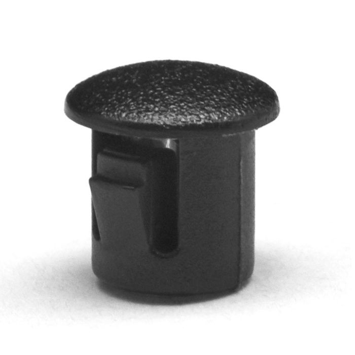 "1/4"" Black Nylon Locking Hole Plug"