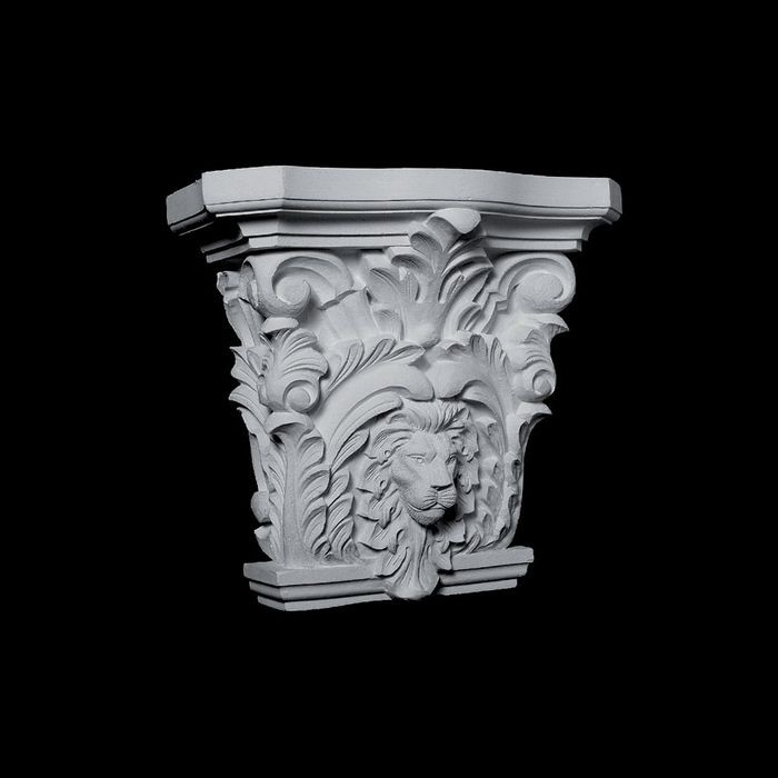 "13-1/4"" Wide x 11-1/4"" High Unfinished Polymer Resin Capital"