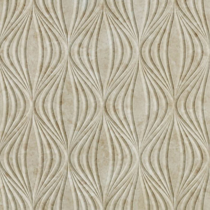 10' Wide x 4' Long Shallot Pattern Travertine Finish Thermoplastic Flexlam Wall Panel