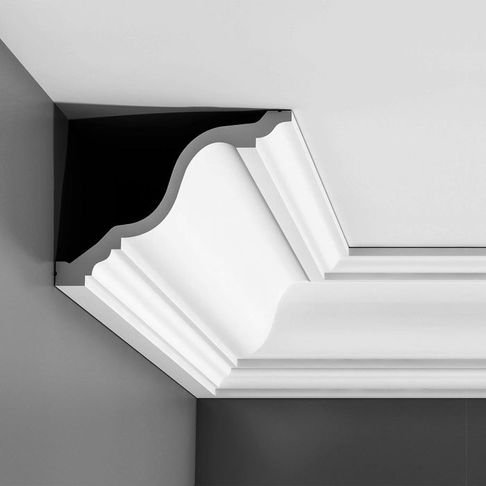 Orac Decor | High Density Polyurethane Foam Crown Moulding | Primed White | Face 9-1/2in x 78in Long