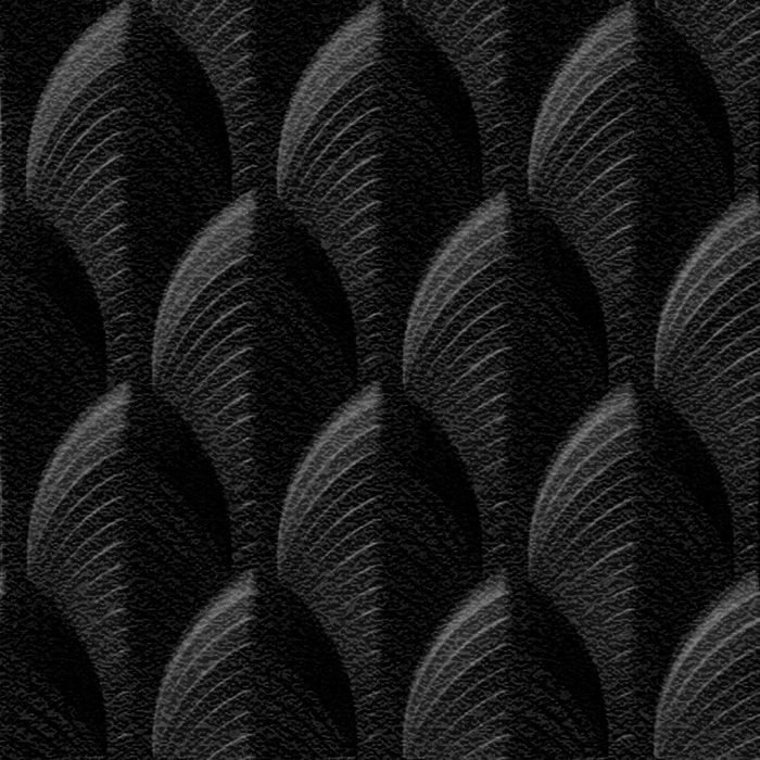 10' Wide x 4' Long South Beach Pattern Eccoflex Black Finish Thermoplastic Flexlam Wall Panel