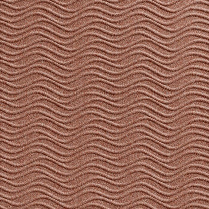10' Wide x 4' Long Wavation Pattern Argent Copper Finish Thermoplastic Flexlam Wall Panel