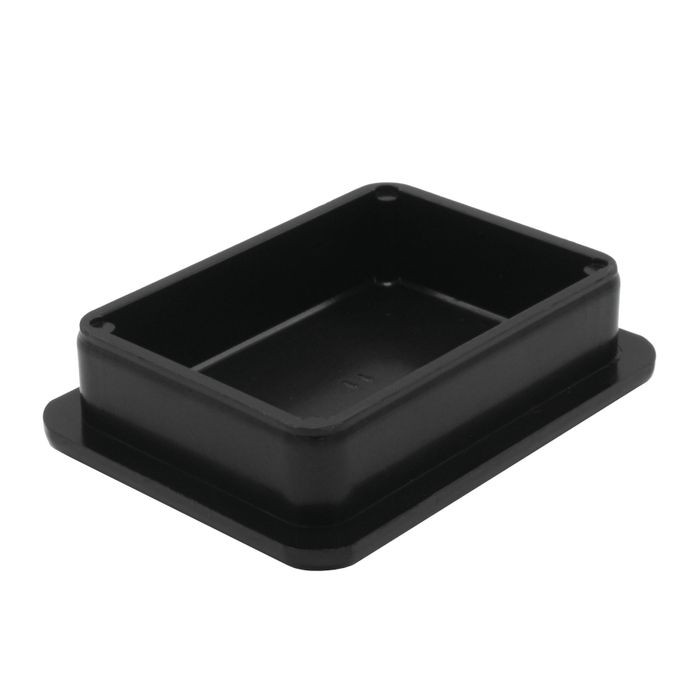 1-1/2in x 2in Rectangular | 11 Gauge Black Matte Finish ABS | Plastic Inside End Cap for Tubing