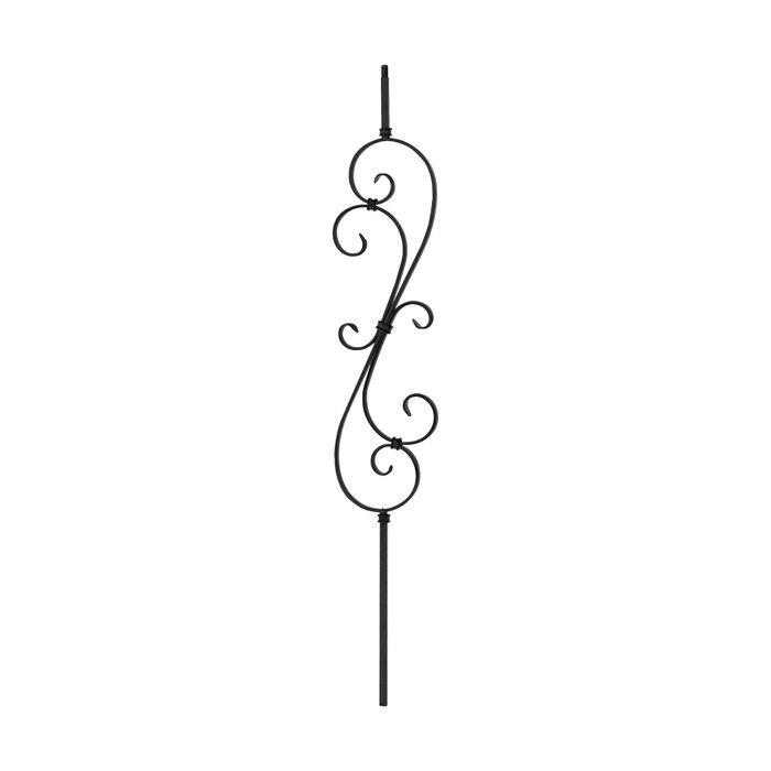 "1/2"" Square x 7 1/2"" W x 47 x "" H Scroll Baluster"