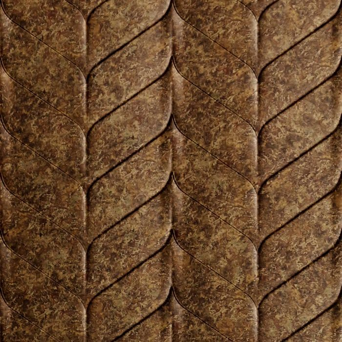 10' Wide x 4' Long Ariel Pattern Bronze Fantasy Finish Thermoplastic Flexlam Wall Panel