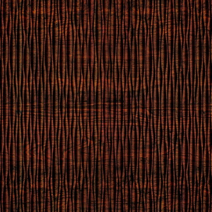 10' Wide x 4' Long Mojave Pattern African Cherry Vertical Finish Thermoplastic FlexLam Wall Panel