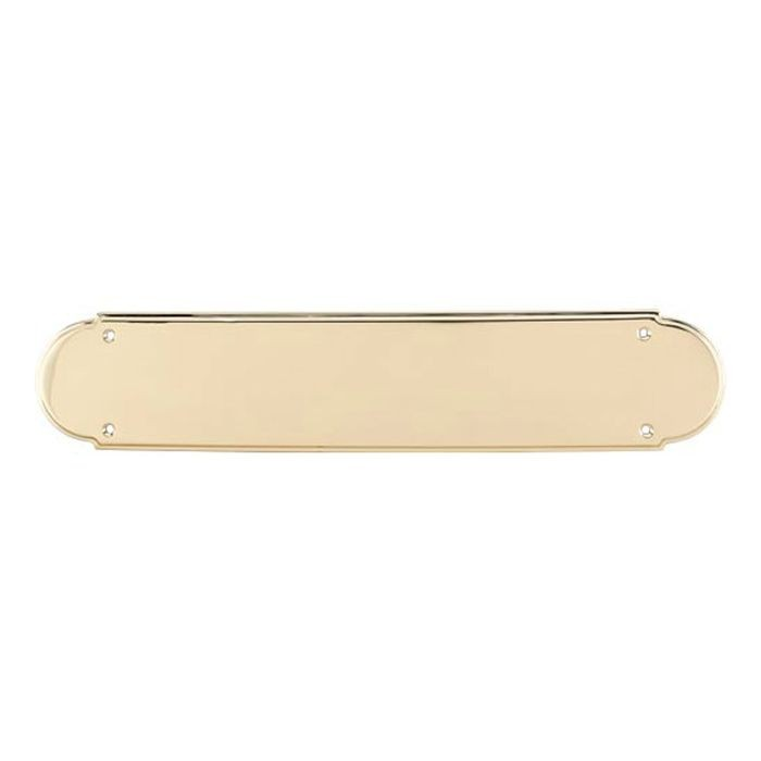 Plain Appliance Push Plate Polished Brass