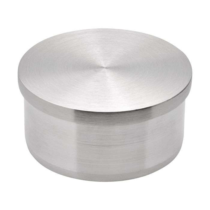 2in Dia | Satin Stainless Steel Finish | Flush End Cap