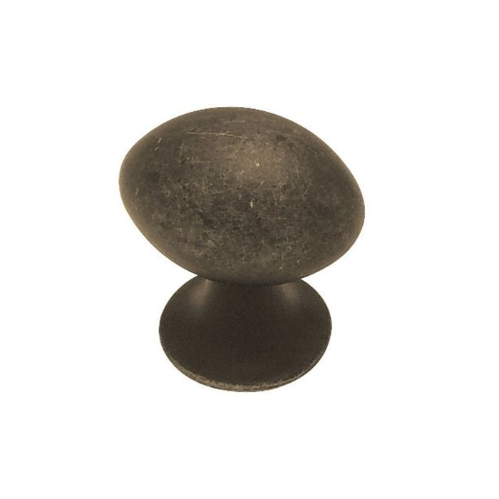 "1.02"" Dia Zinc Diecast Knob Oil Rubbed Bronze (26mm)"