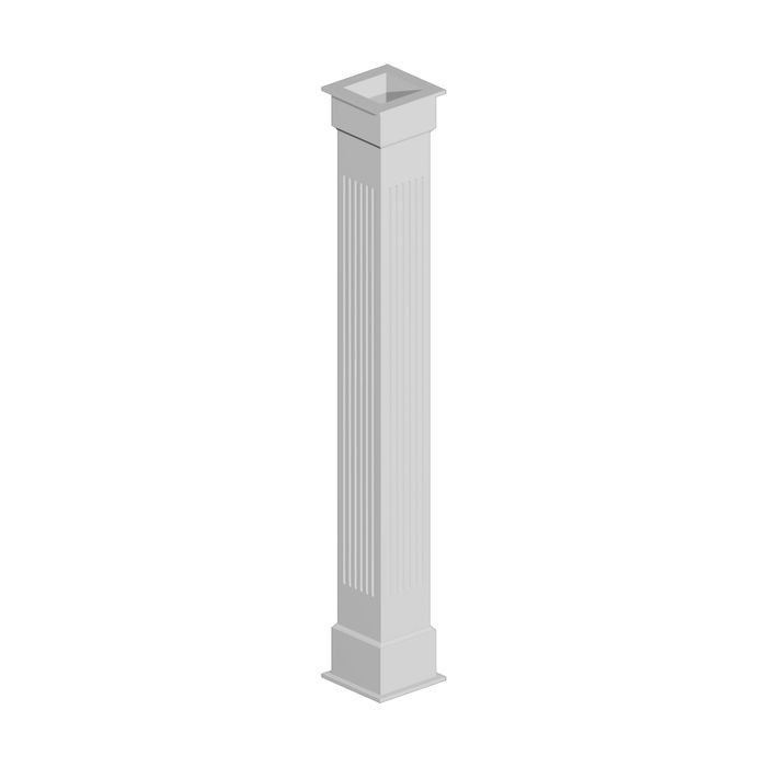 "10"" Shaft x 8-1/2"" Inside Width x 96"" Long Fluted Non Tapered Column Wrap"