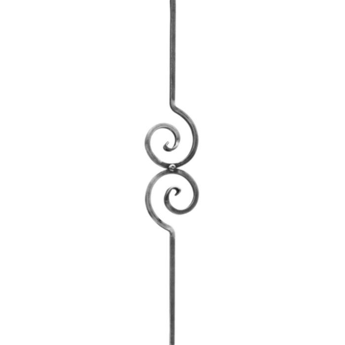 "1/2"" Square x 4-3/4"" W x 35-7/16"" H Wrought Iron Balusters"