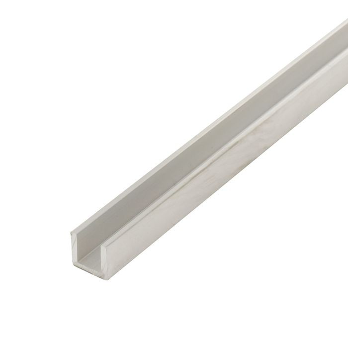 1/4in | Mill Finish | Aluminum U Channel Moulding | 12ft Length