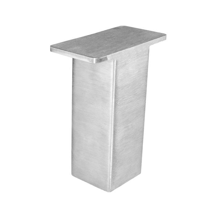 "5"" High x 2"" Diameter Stainless Steel Finish Elevated Countertop Support Post"