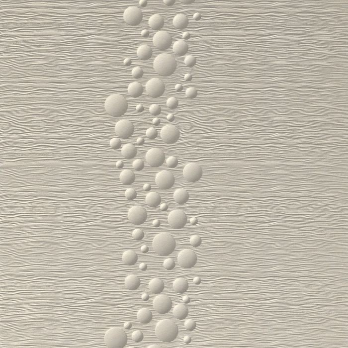10' Wide x 4' Long Cascade Pattern Winter White Finish Thermoplastic Flexlam Wall Panel