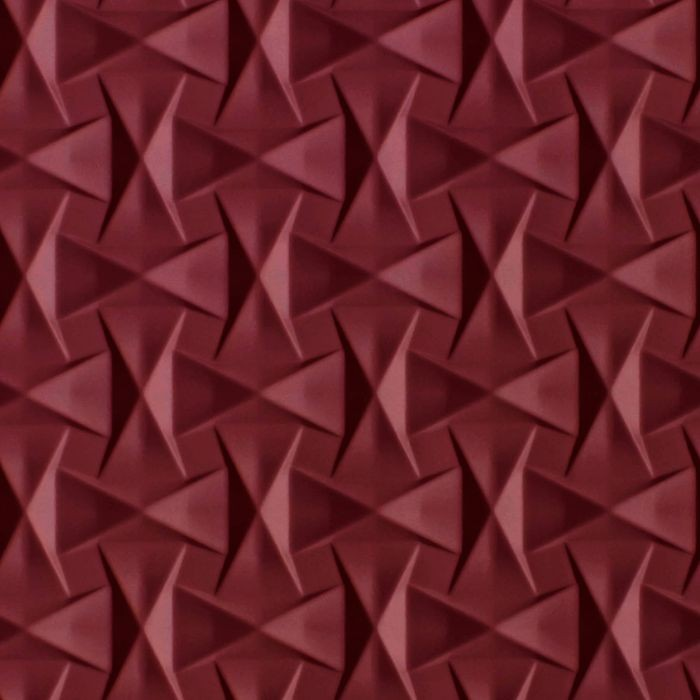 10' Wide x 4' Long Bowtie Pattern Merlot Finish Thermoplastic Flexlam Wall Panel