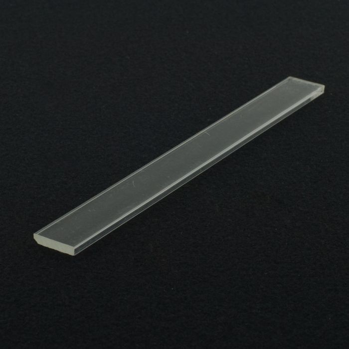 1/8in x 5/8in | Clear Acrylic Rectangular Bar | 6ft Length