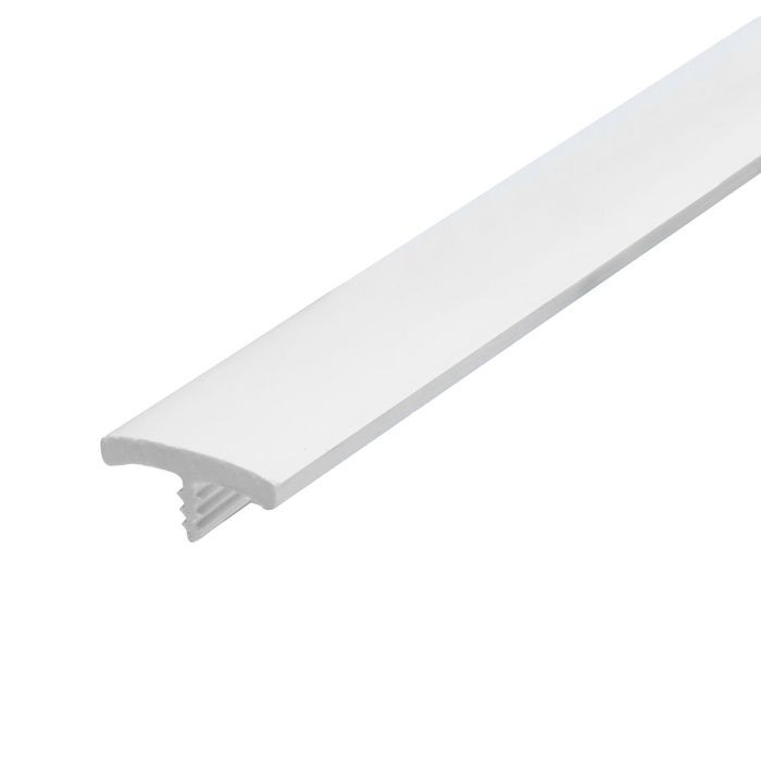 13/16in White Flexible PVC | Flat Face Bumper Tee Moulding | 250ft Coil