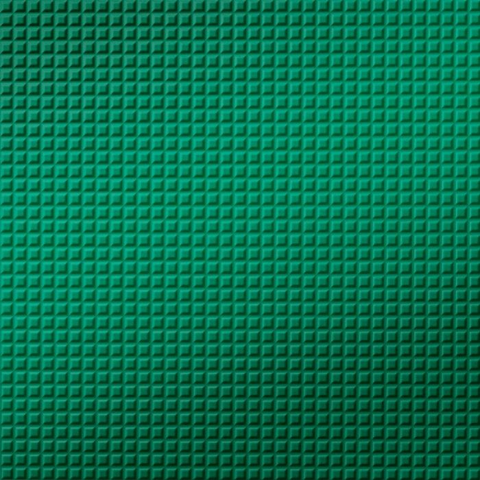 FlexLam 3D Wall Panel | 4ft W x 10ft H | Square 5 Pattern | Mirror Green Finish
