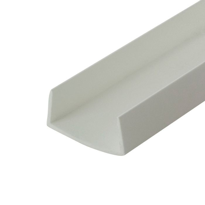 1in | White Rigid Styrene | U Channel Moulding | 12ft Length