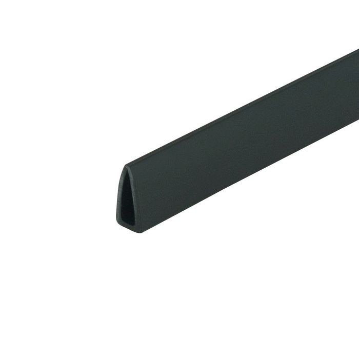 1/8in | Black Rigid Styrene | Clamp Moulding | 8ft Length