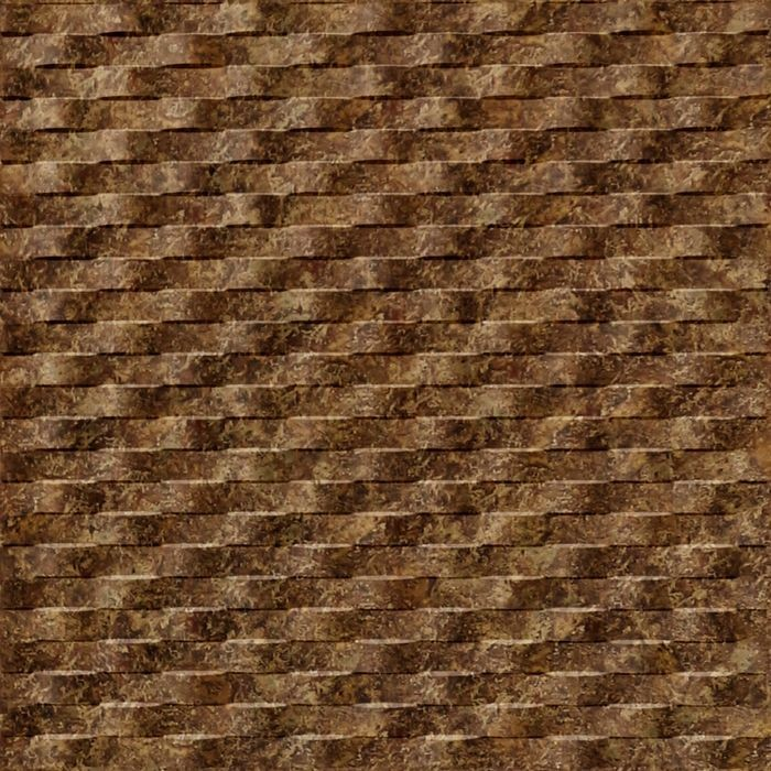 10' Wide x 4' Long Weave Pattern Bronze Fantasy Finish Thermoplastic Flexlam Wall Panel