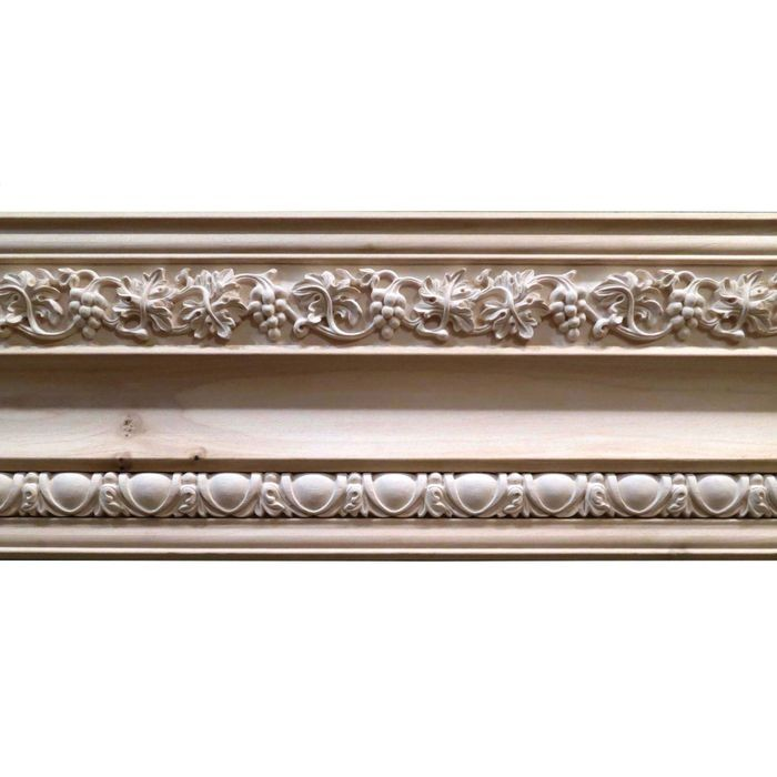 7-1/2in H x 1-1/4in Proj | Unfinished Polymer Resin | 440-E Series | Frieze Moulding | 5ft Long