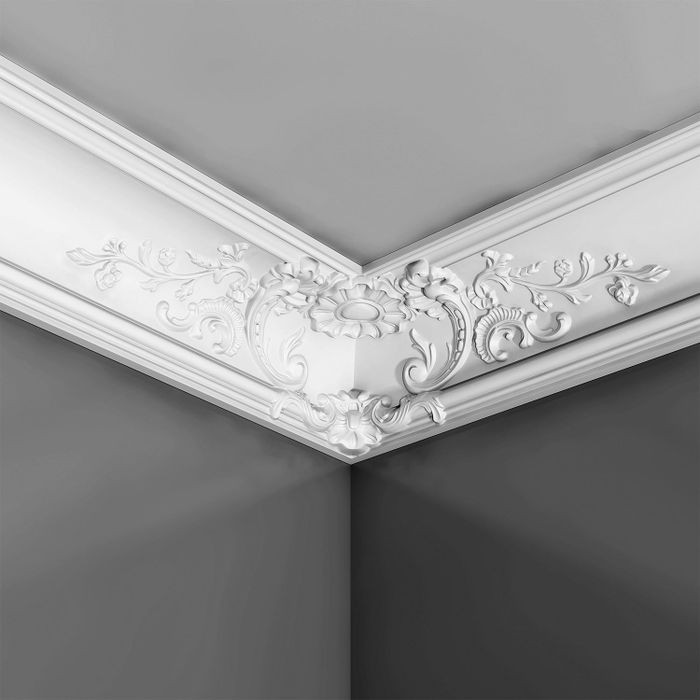 Orac Decor | High Density Polyurethane Crown Moulding | Primed White | Face 10in x 78-3/4in Long