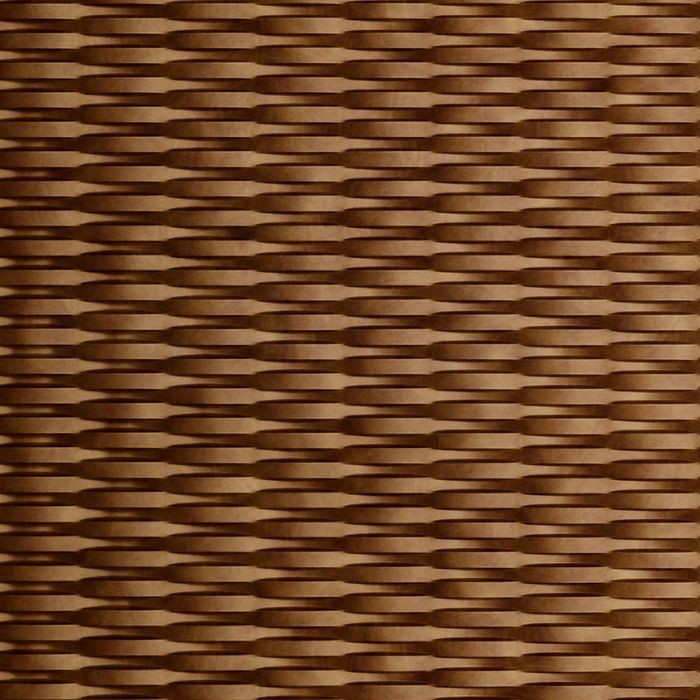 10' Wide x 4' Long Interlink Pattern Antique Bronze Finish Thermoplastic FlexLam Wall Panel