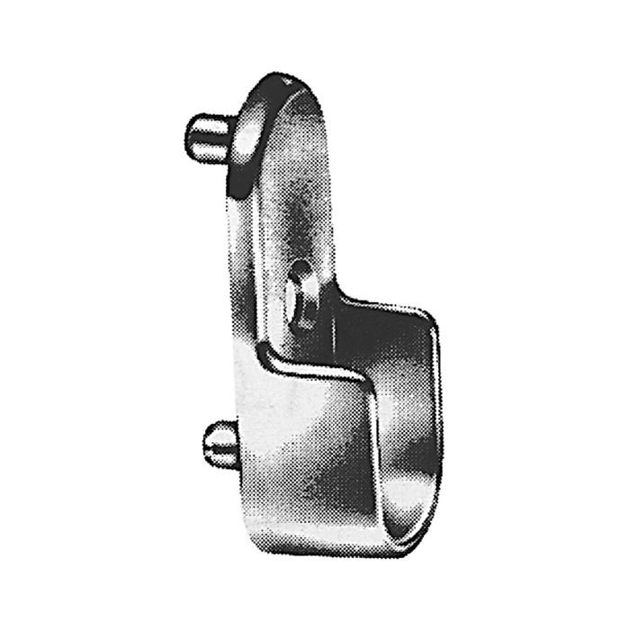 Nickel Pltd Closet Rod Support For Oval Tubing 32 Mm System