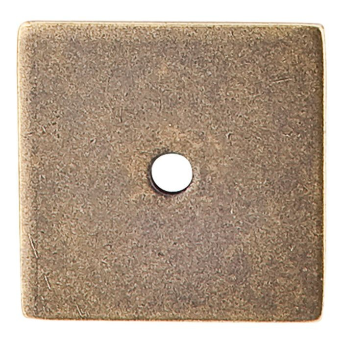 "Square Backplate 1 1/4"" Dia. German Bronze"
