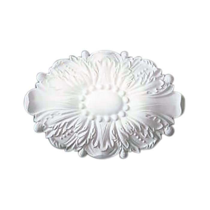 "11-13/16"" Wide x 7-7/8"" High Primed White Polyurethane Rosette Applique"