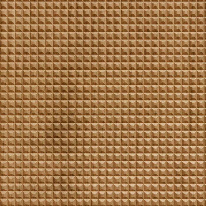 FlexLam 3D Wall Panel | 4ft W x 10ft H | Chocolate Square Pattern | Oregon Ash Finish