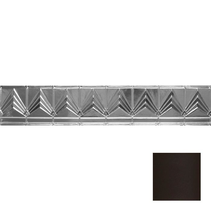 Tin Plated Stamped Steel Cornice | 6in H x 6in Proj | Bronze Finish | 4ft Long
