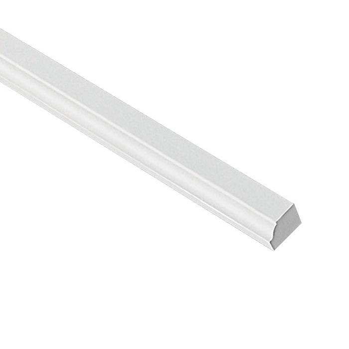 "1"" High x 1-3/16"" Projection Primed White Polymer Panel Moulding 8' Length"