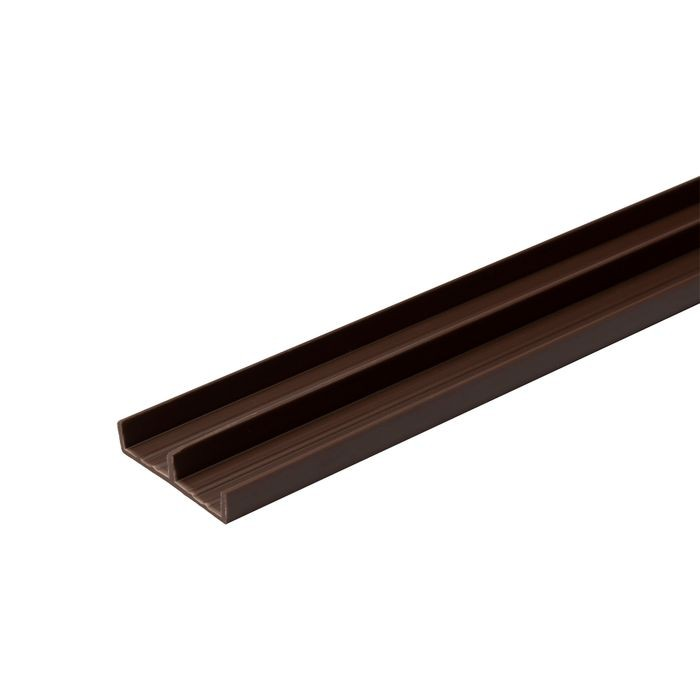 1/2in W | Lower Sliding Door Track | Brown Color | 12ft Length