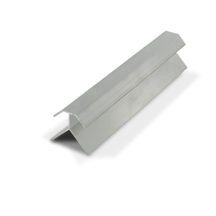 1/2in Mill Finish Aluminum | 90 Degree Outside Corner Channel | 12ft Length