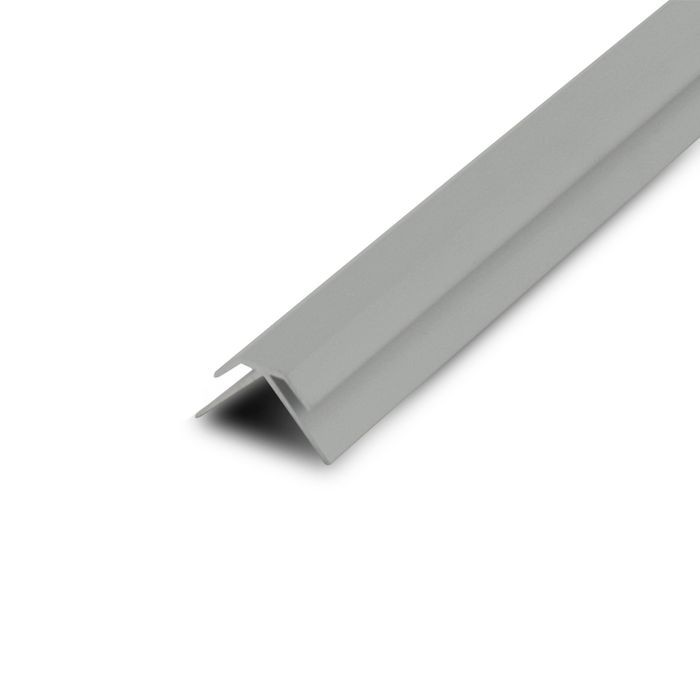 1/16in Clear Anodized (Satin) Finish Aluminum | 90 Degree Outside Corner Channel | 12ft Length