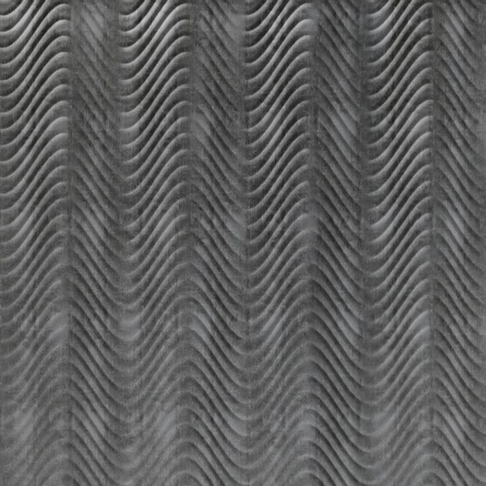 10' Wide x 4' Long Curves Pattern Crosshatch Silver Finish Thermoplastic Flexlam Wall Panel