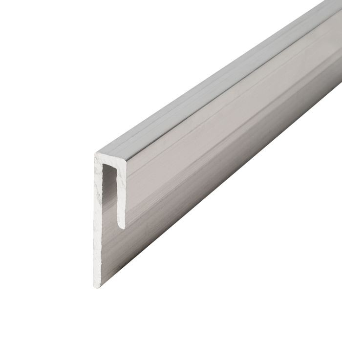 1/8in Mill Finish | Aluminum Cap Moulding | 12ft Length