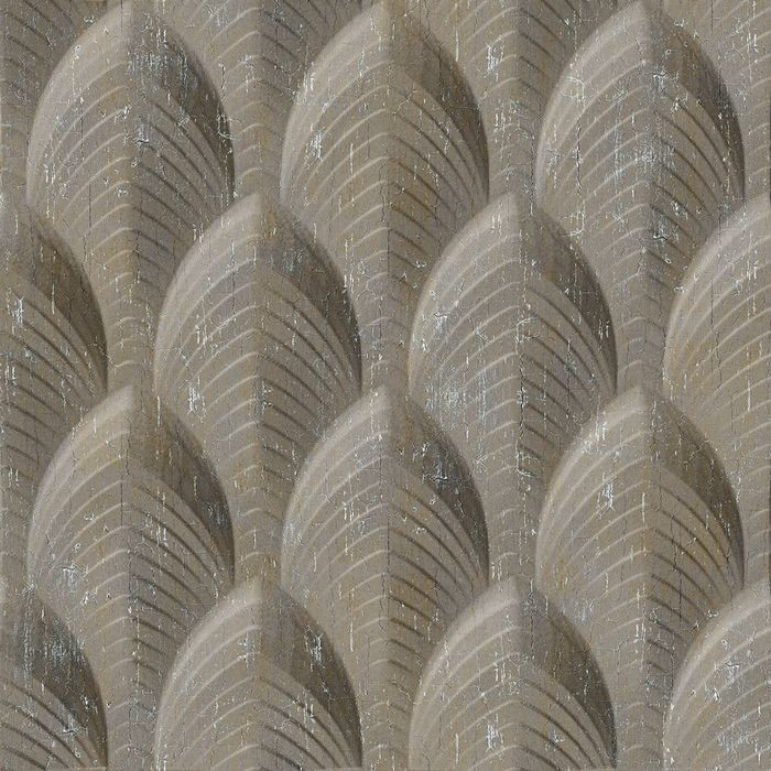 FlexLam 3D Wall Panel | 4ft W x 10ft H | South Beach Pattern | Vintage Metal Finish