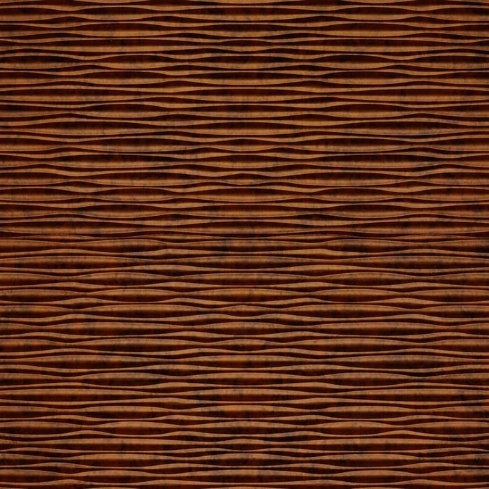 10' Wide x 4' Long Mojave Pattern Moonstone Copper Finish Thermoplastic Flexlam Wall Panel