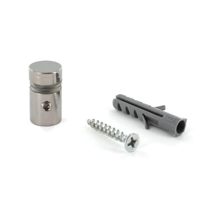 1/2in Dia x 1/2in Barrel Length | Polished Stainless Finish | Eco Lock Series | Tamper Proof Standoff