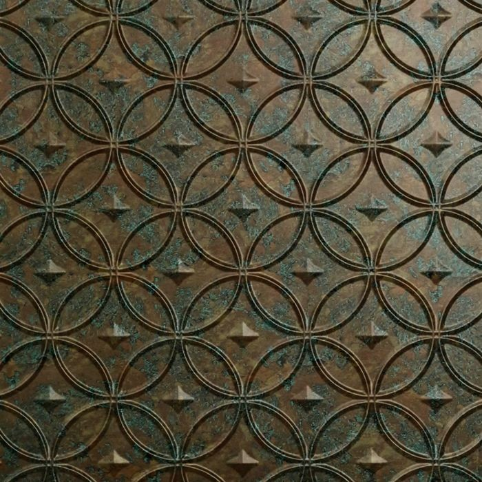 10' Wide x 4' Long Celestial Pattern Copper Fantasy Finish Thermoplastic Flexlam Wall Panel