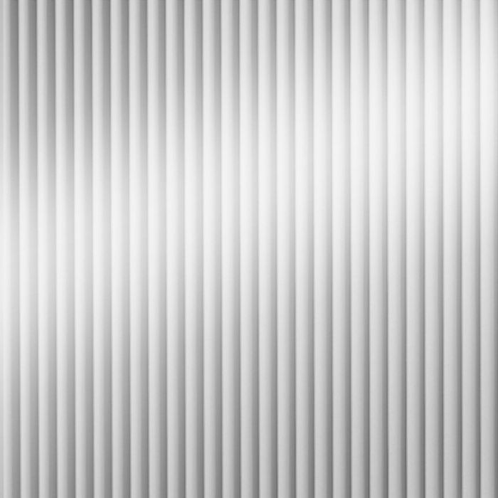 10' Wide x 4' Long Rib2 Pattern Mirror Finish Thermoplastic Flexlam Wall Panel