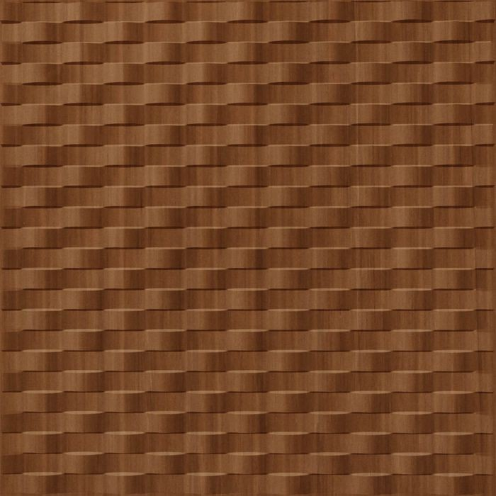 10' Wide x 4' Long Weave Pattern Pearwood Finish Thermoplastic Flexlam Wall Panel