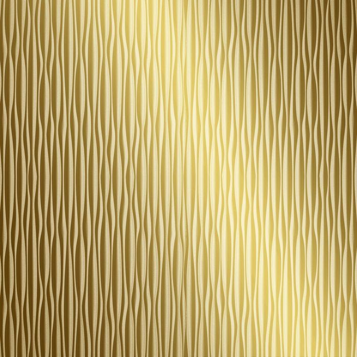 FlexLam 3D Wall Panel | 4ft W x 10ft H | Mojave Pattern | Mirror Gold Vertical Finish