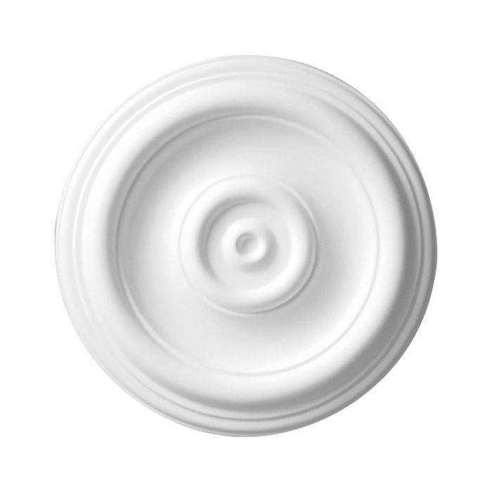 12in | Primed White Polyurethane | Smooth Ceiling Medallion