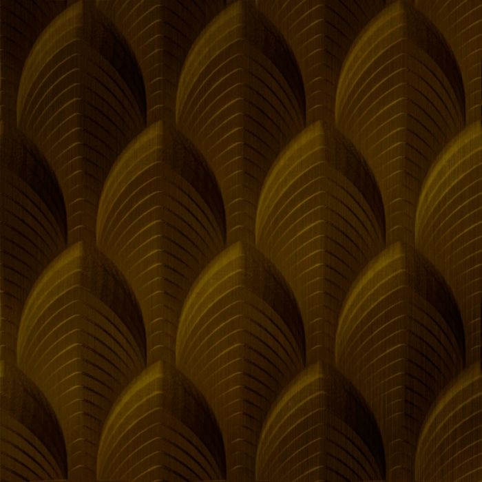 10' Wide x 4' Long South Beach Pattern Oil Rubbed Bronze Finish Thermoplastic Flexlam Wall Panel