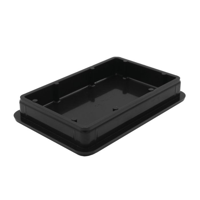 2in x 3in Rectangular | 11 Gauge Black Matte Finish ABS | Plastic Inside End Cap for Tubing