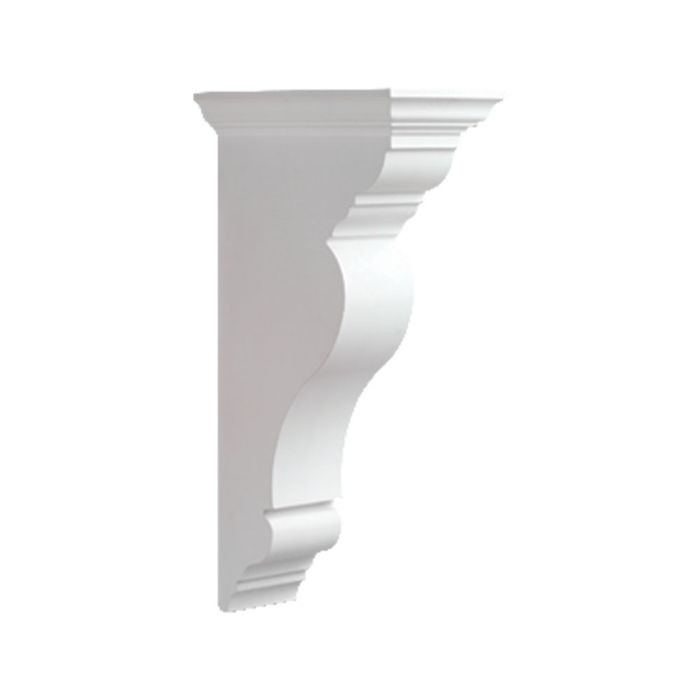 "Fypon 8-11/32"" Wide x 27-9/16"" High Primed White Polyurethane Bracket"